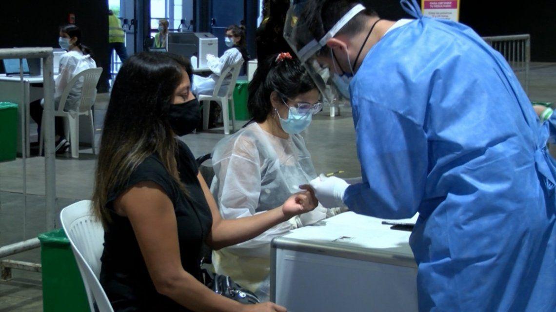 Coronavirus: masiva afluencia de personas para testeos al término del fin de semana largo.