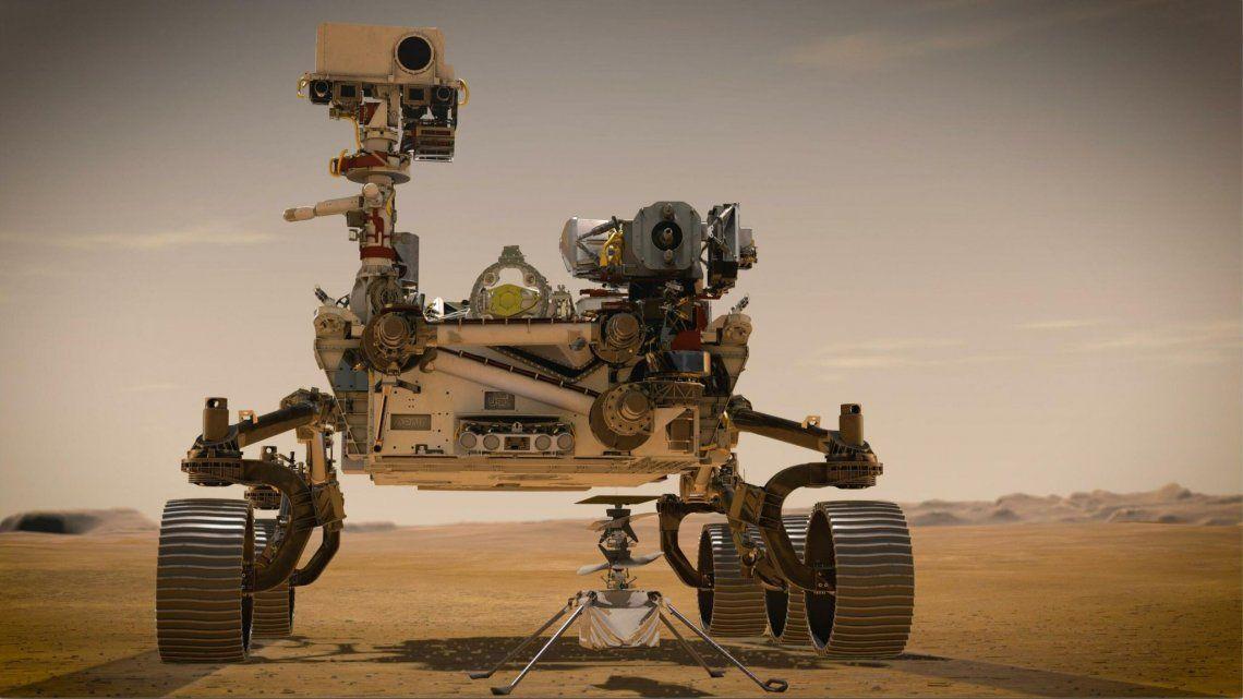 Perseverance en Marte el jueves 18 de febrero