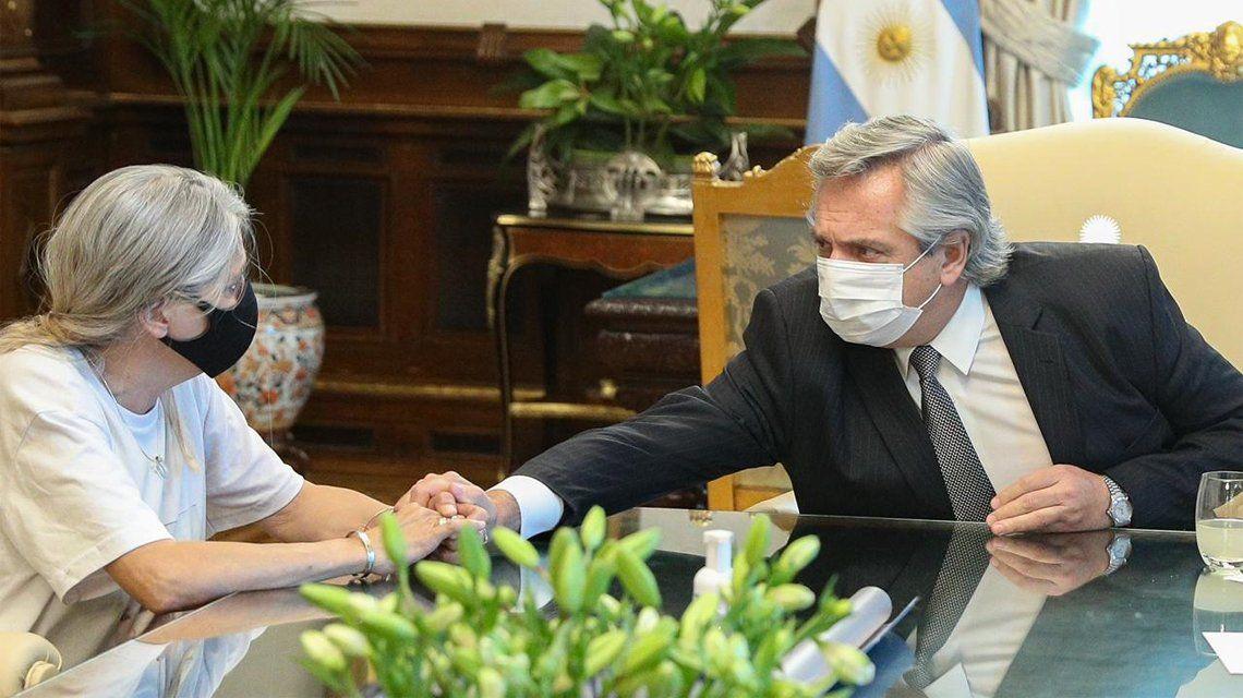 Alberto Fernández recibió a los padres de Ursula Bahillo.