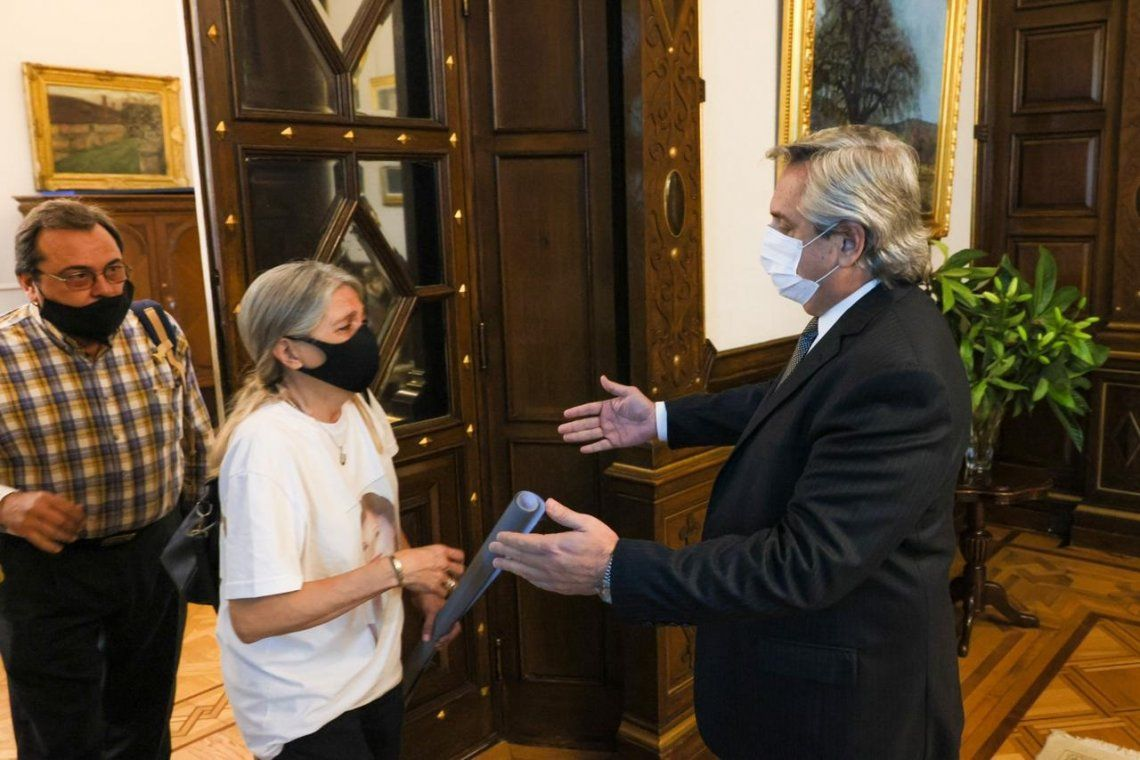 El presidente recibió a Patricia Nasutti y Adolfo Bahillo