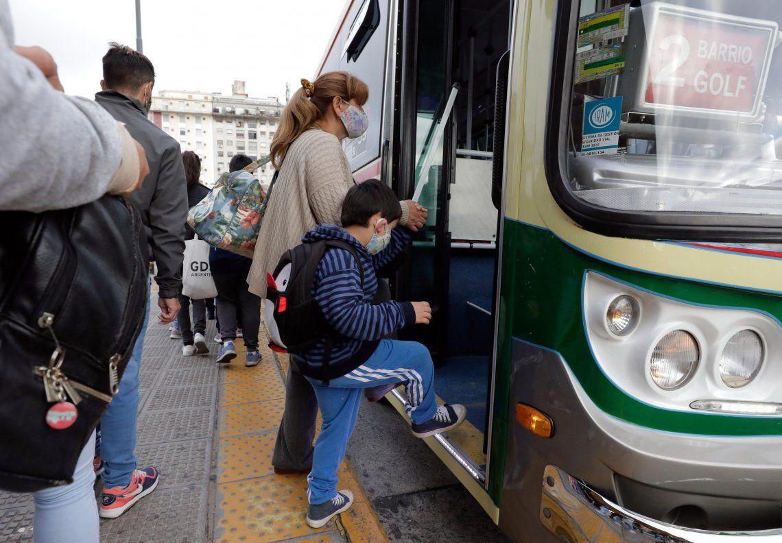En el transporte público