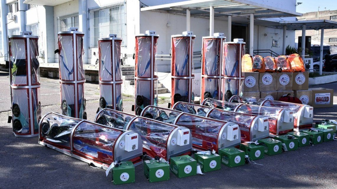 El equipamiento será utilizado para reforzar la capacidad logística de respuesta ante el virus.