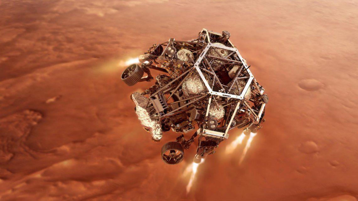El Perseverance llego a Marte con éxito