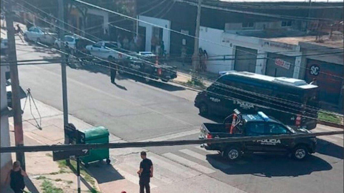 Fuerte despliegue policial en la zona sur de Rosario