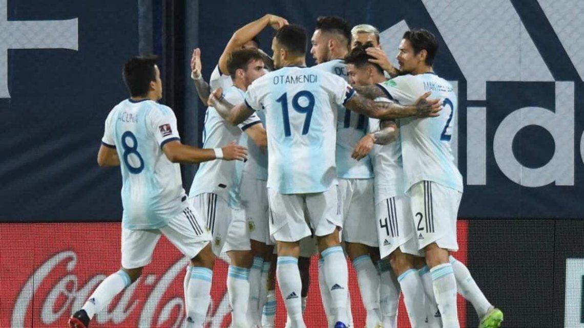La Selección Argentina está segunda en la tabla de posiciones.