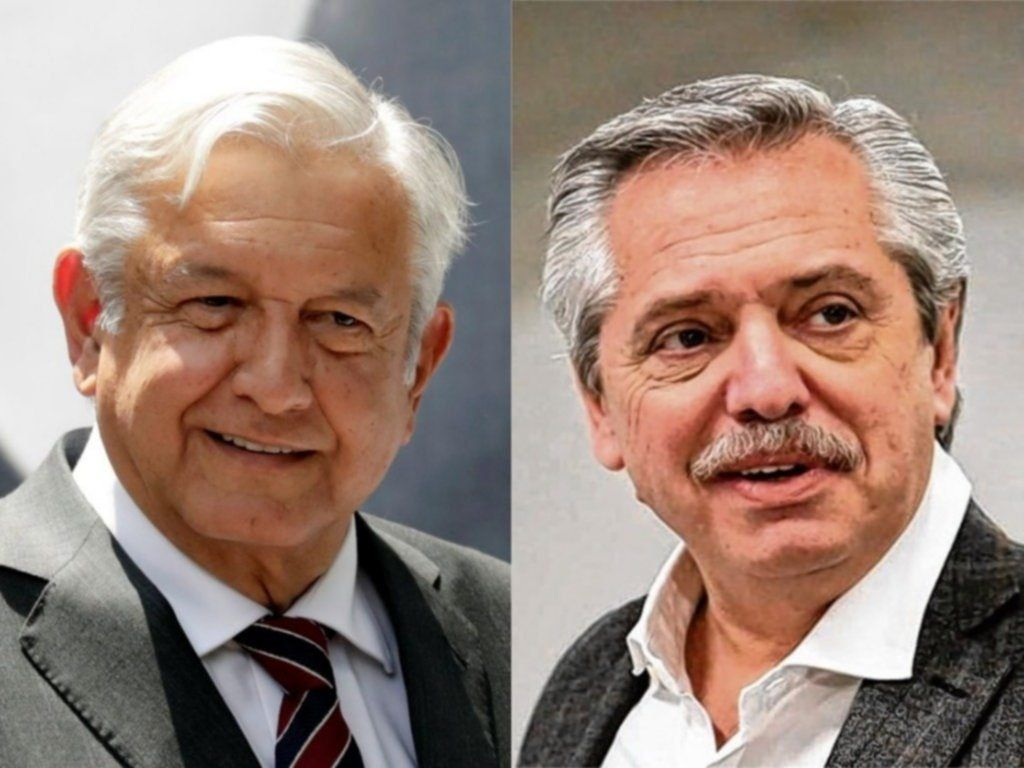 Alberto Fernández y Andrés López Obrador