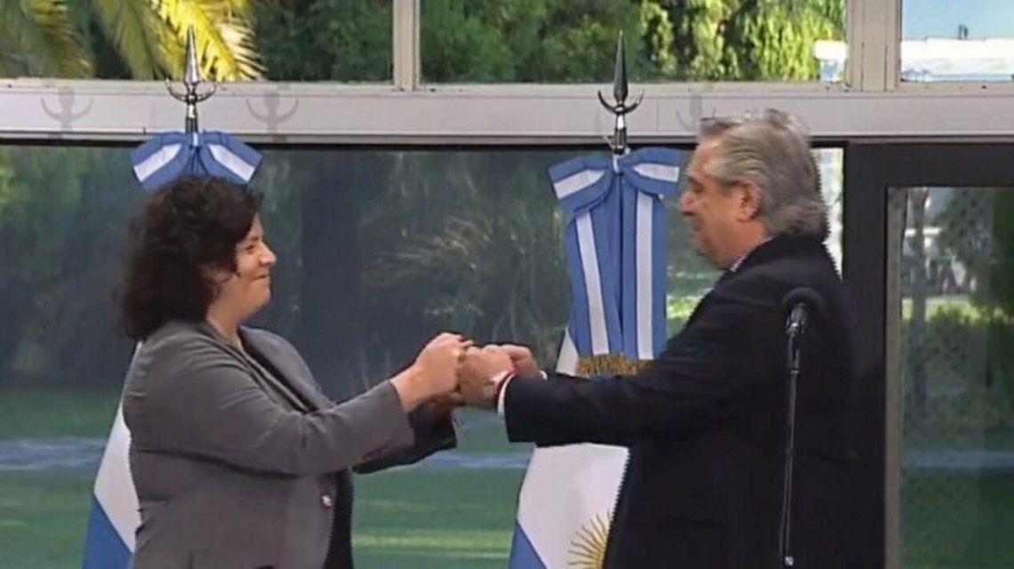 Carla Vizzotti juró como ministra de Salud de la Nación en Olivos