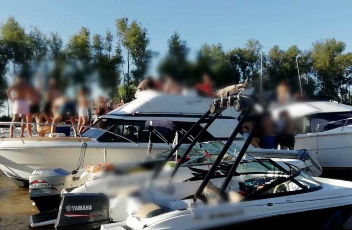 Prefectura desarticuló una fiesta clandestina en un yate cerca de San Isidro.