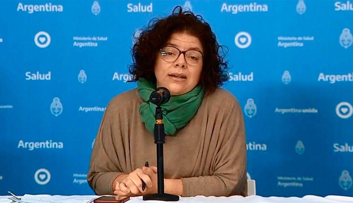 Carla Vizzotti habló sobre la vacunación de Martín Guzmán.