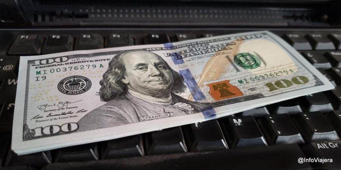 El dólar blue mantuvo su cotización del viernes.