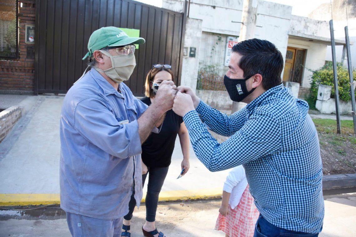 Leo Nardini inauguró nuevo pavimento en Villa de Mayo