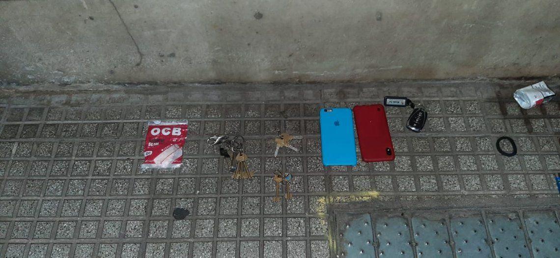 Los elementos incautados por la Policía de la Ciudad.
