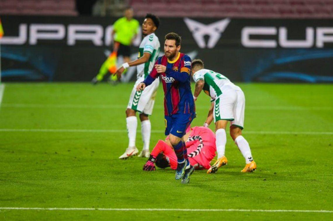 Lionel Messi aportó dos tantos para la goleada del Barcelona