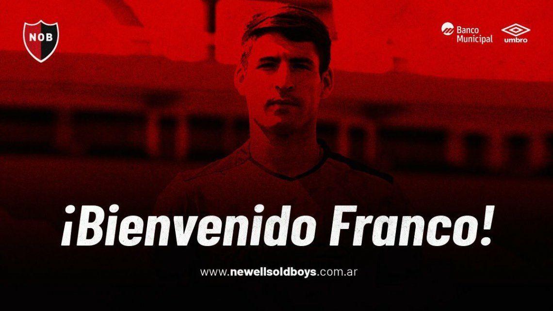 Franco Negri jugará en Newells hasta fin de año.