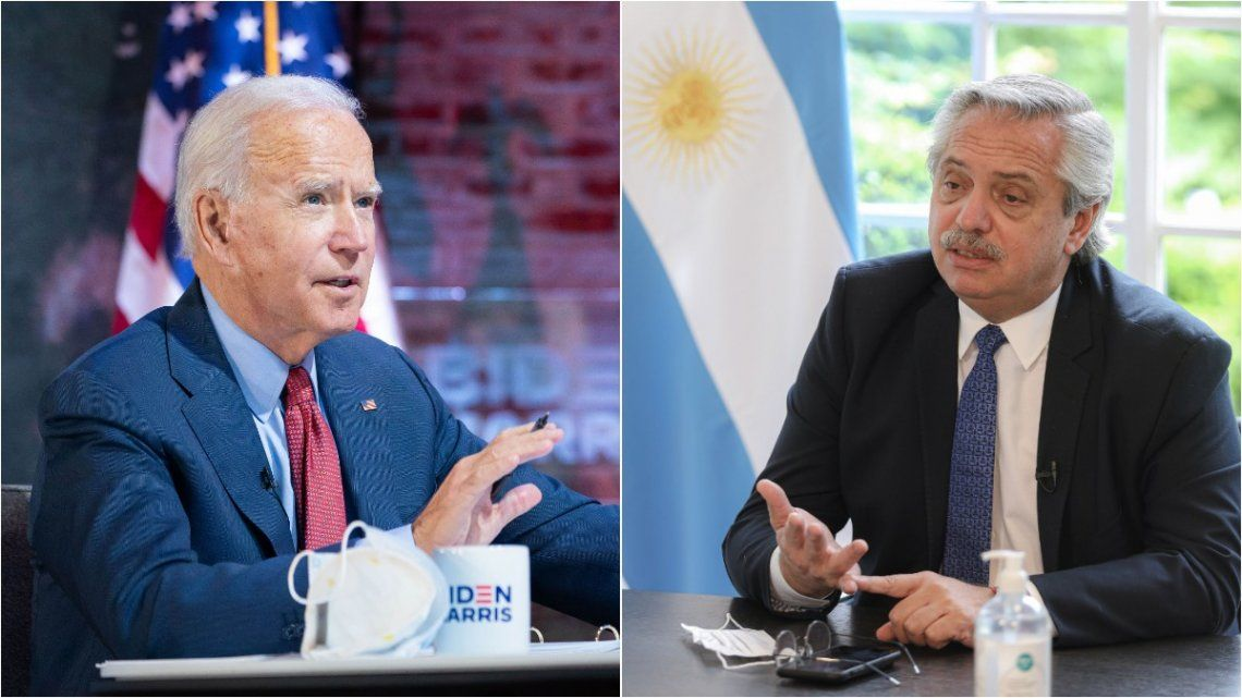 Joe Biden y Alberto Fernández.
