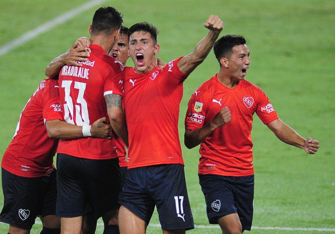 Independiente ganó gracias a su goleador.