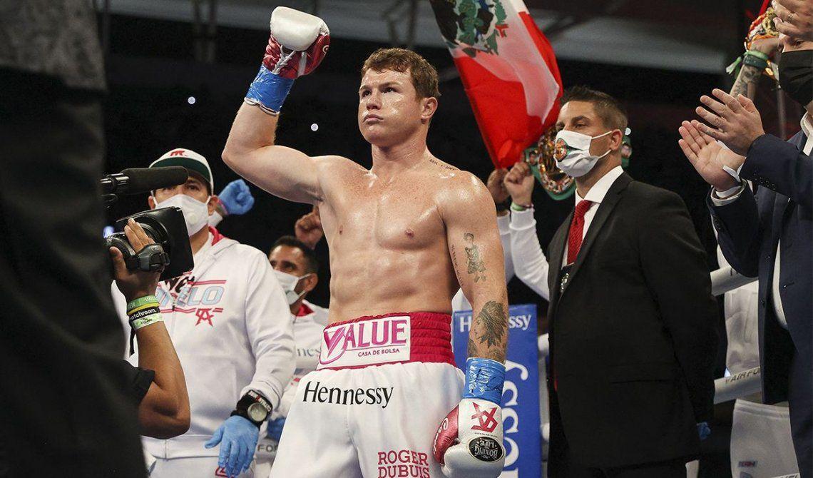Con esta pelea Canelo Álvarez llegó a 55 victorias