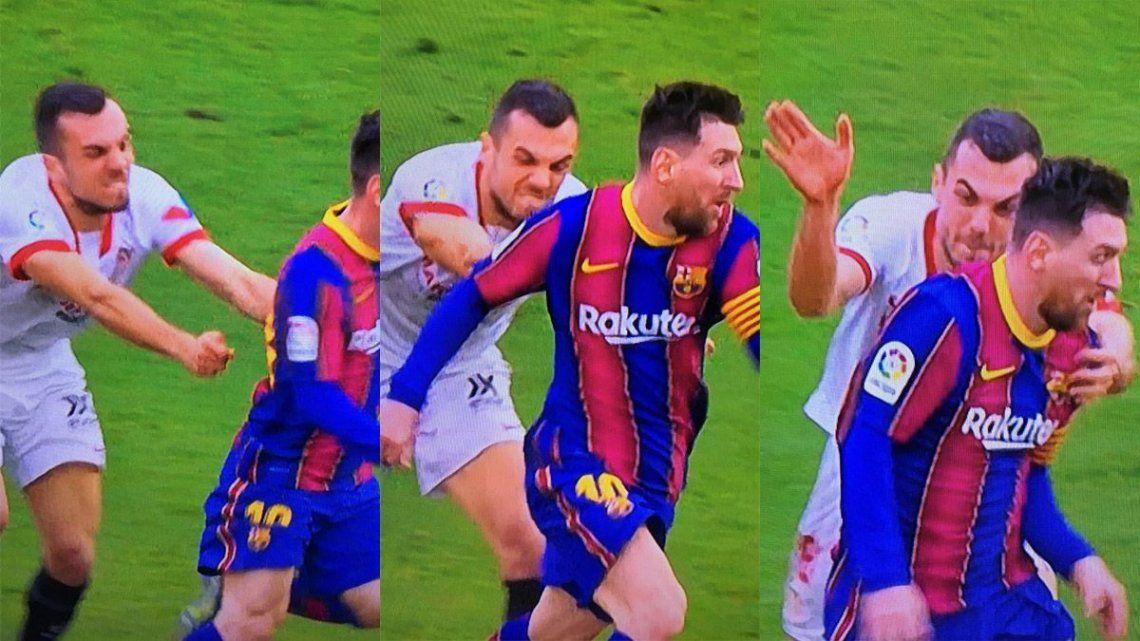 La secuencia del partido entre Sevilla y Barcelona se volvió viral en las redes sociales.