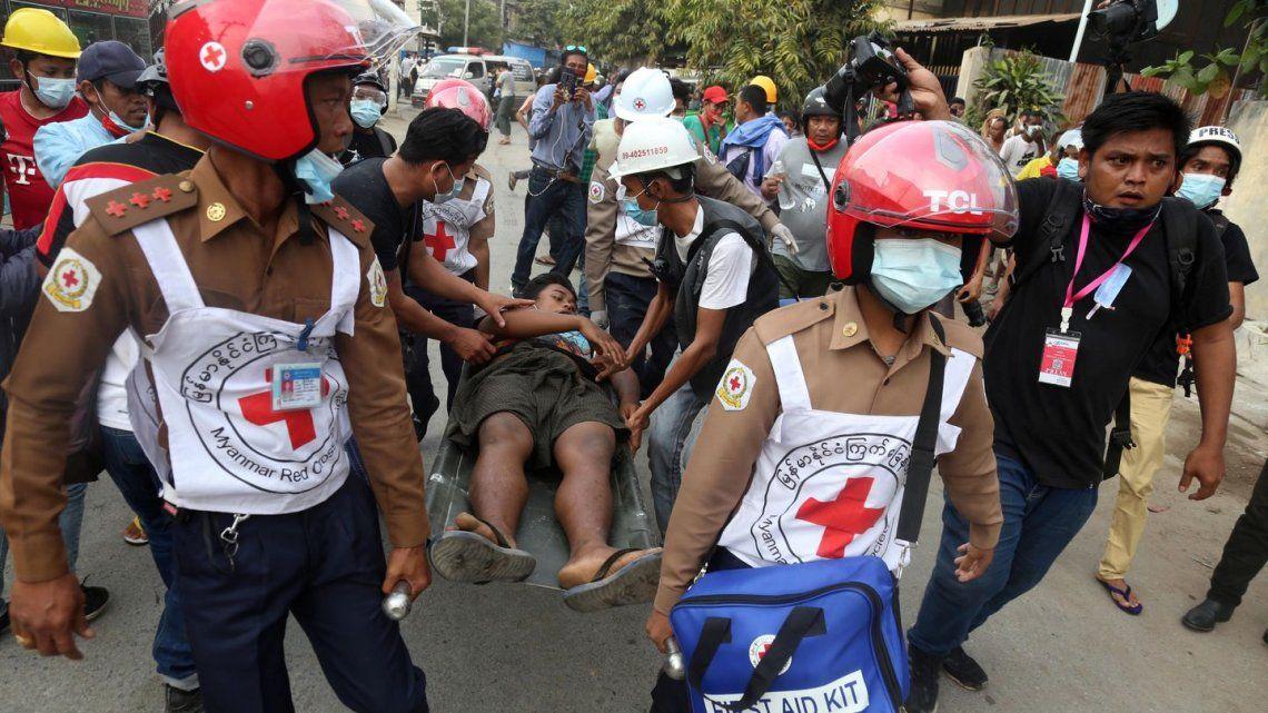 Los servicios de emergencia se vieron desbordados tras atender a miles de manifestantes.