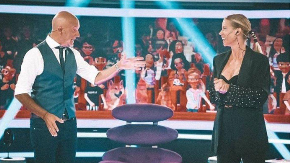 Nicole Neumann y el Pelado López mostraron muy buena química en la pantalla de América.