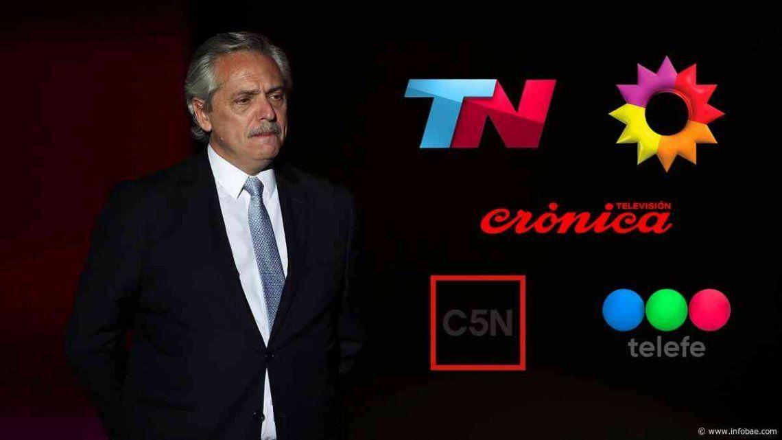 Alberto Fernández: Su discurso superó los 21 puntos de rating.