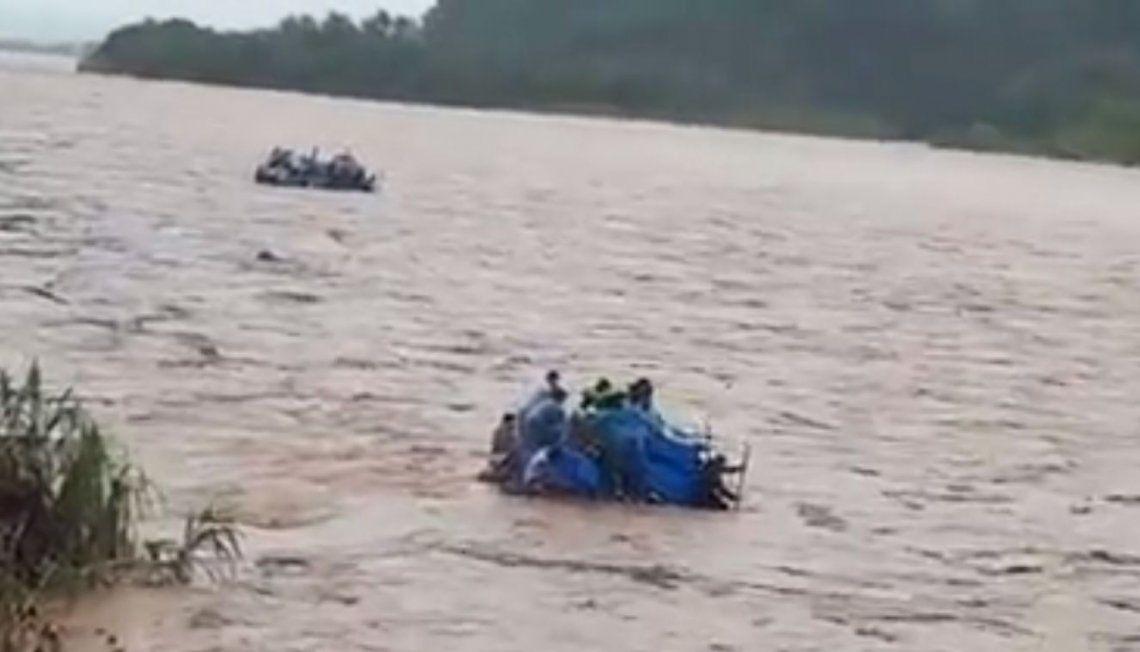 El gomón navegaba por el Río Bermejo