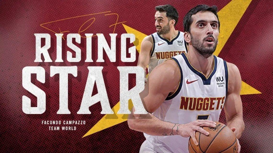 Facundo Campazzo fue elegido para el partido de novatos del All Star Game de la NBA