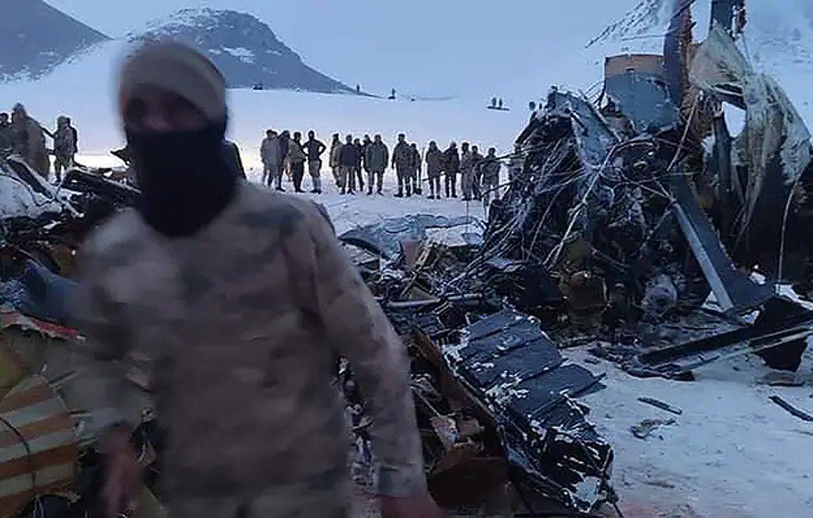 Turquía: accidente de helicóptero.
