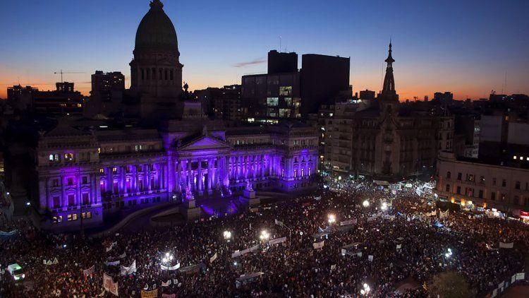 Se calcula que aproximadamente 190.000 personas marcharon en el 8M de 2019.