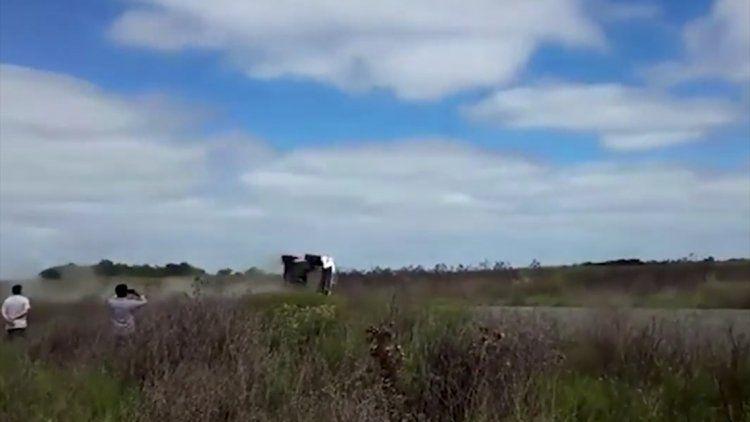 David Nalbandian, protagonista de un accidente en un Rally: salió ileso y un video registró las escenas.