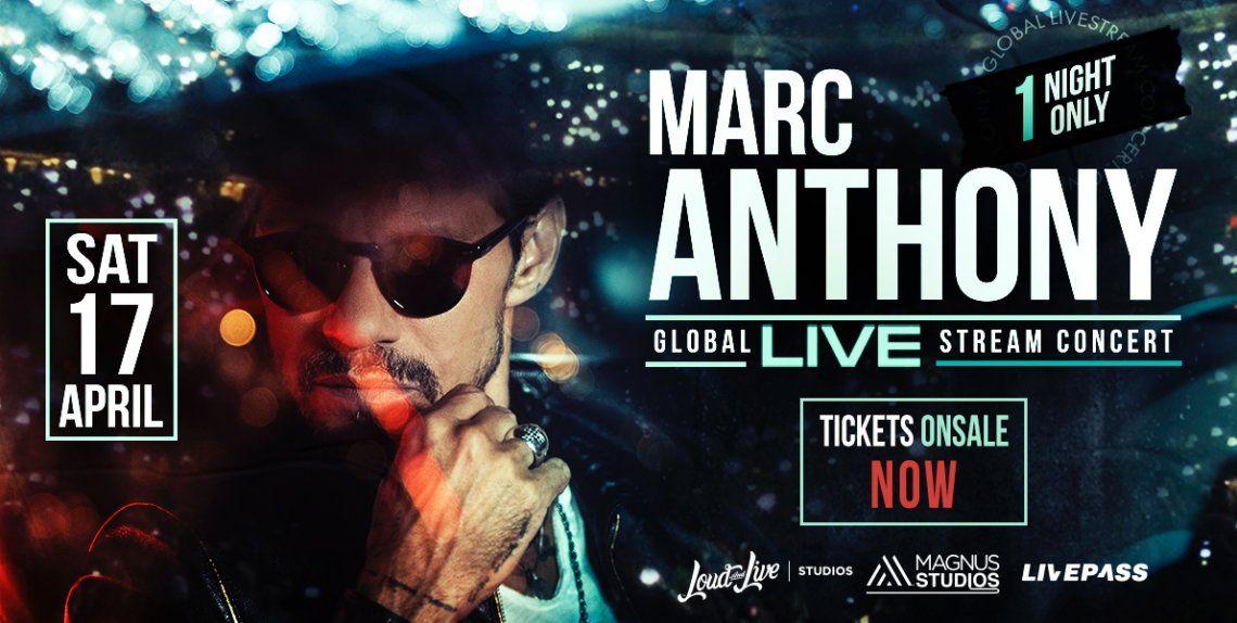 Marc Anthony dará un show vía streaming