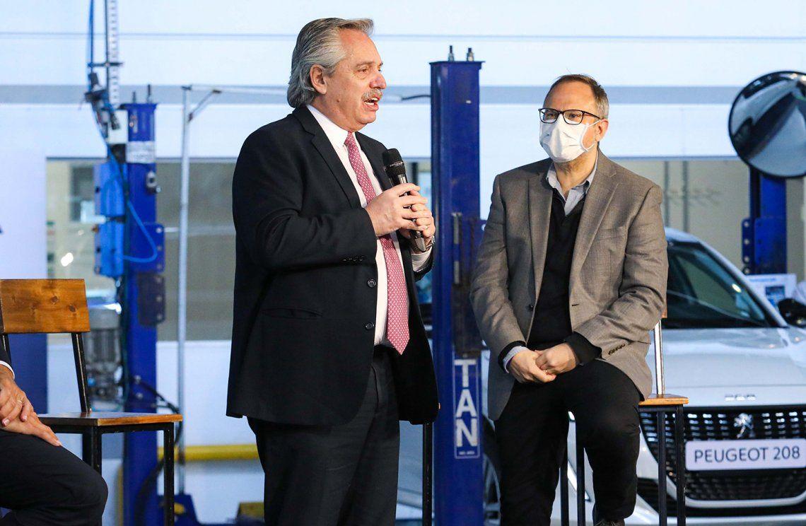 Alberto Fernández encabezó un acto en el Museo del Bicentenario.