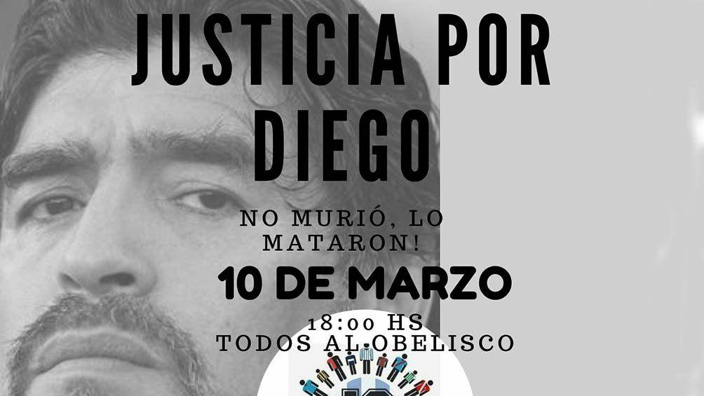 Marcha del 10-M: familiares y fanáticos de Maradona pedirán justicia por su muerte