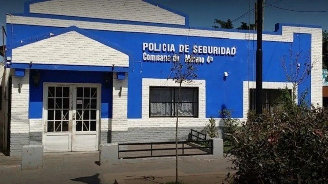 La comisaría de Moreno de donde se fugaron los cuatro presos.