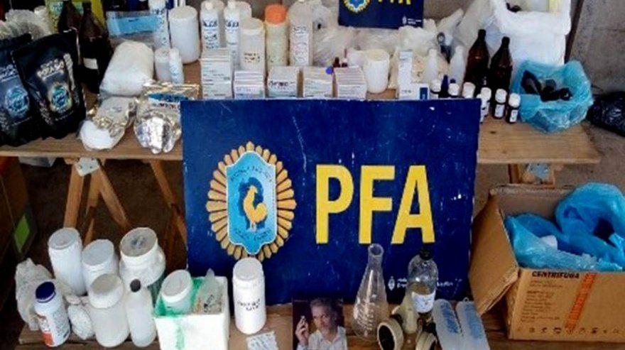 Mar del Plata: laboratorio clandestino.