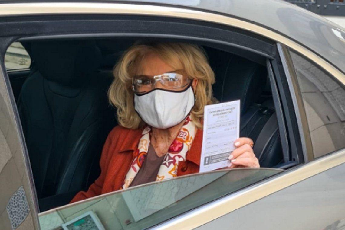 Mirtha Legrand se inoculó contra el coronavirus con la Sputnik V