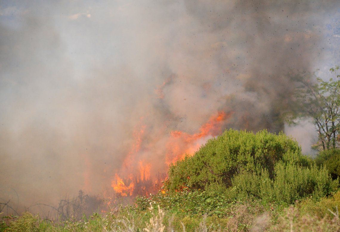 Tandil: incendios en las sierras.