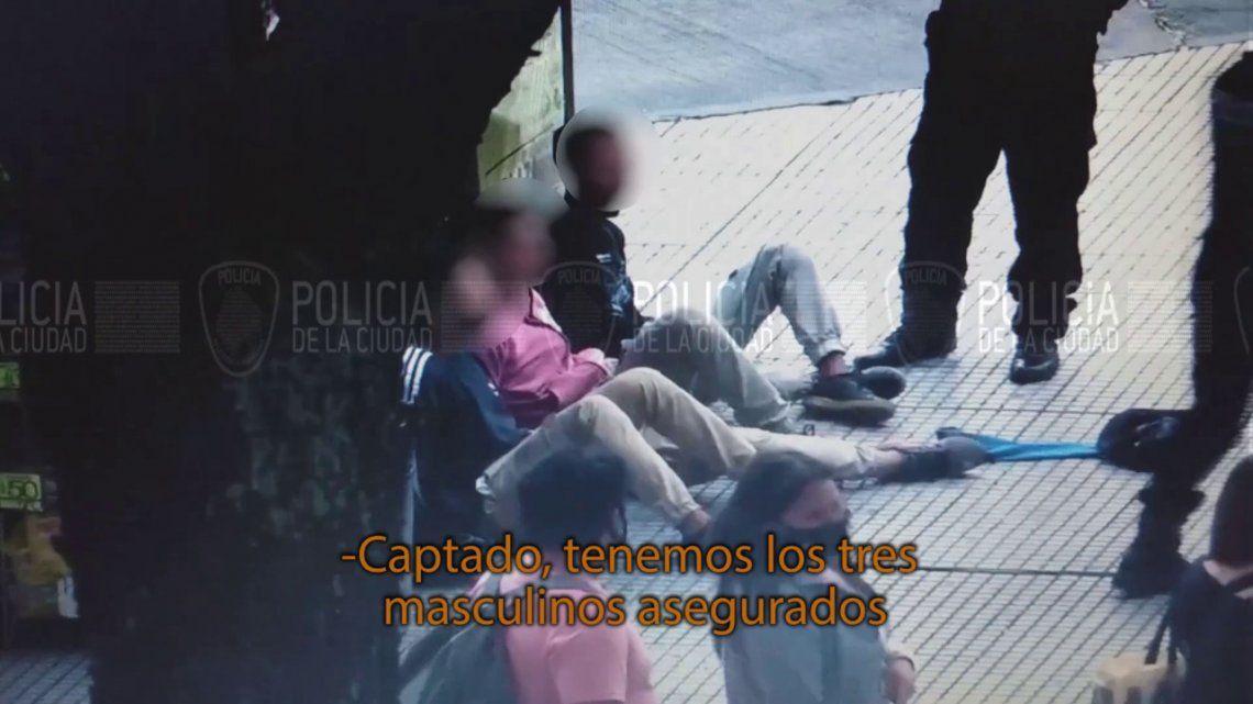 Once: tres delkincuentes menores detenidos gracias a las cámaras de seguridad