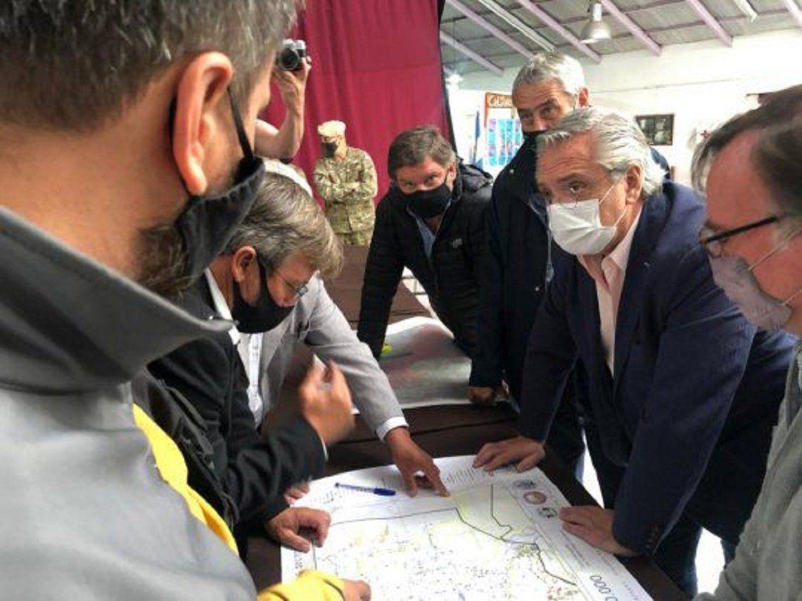 Chubut: Alberto Fernández supervisa las zonas afectadas por los incendios