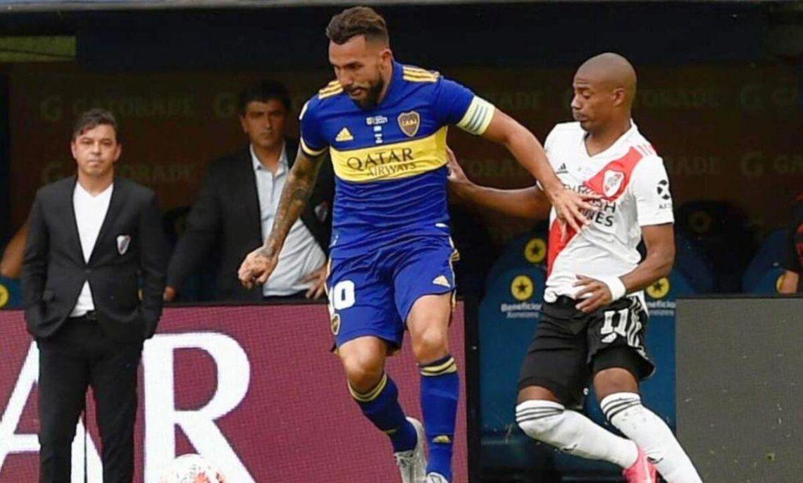 Tevez no ocultó su fastidio por el empate ante River.