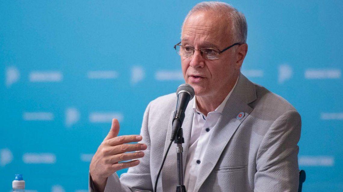 Daniel Gollán brindó una conferencia en la Casa de Gobierno bonaerense.