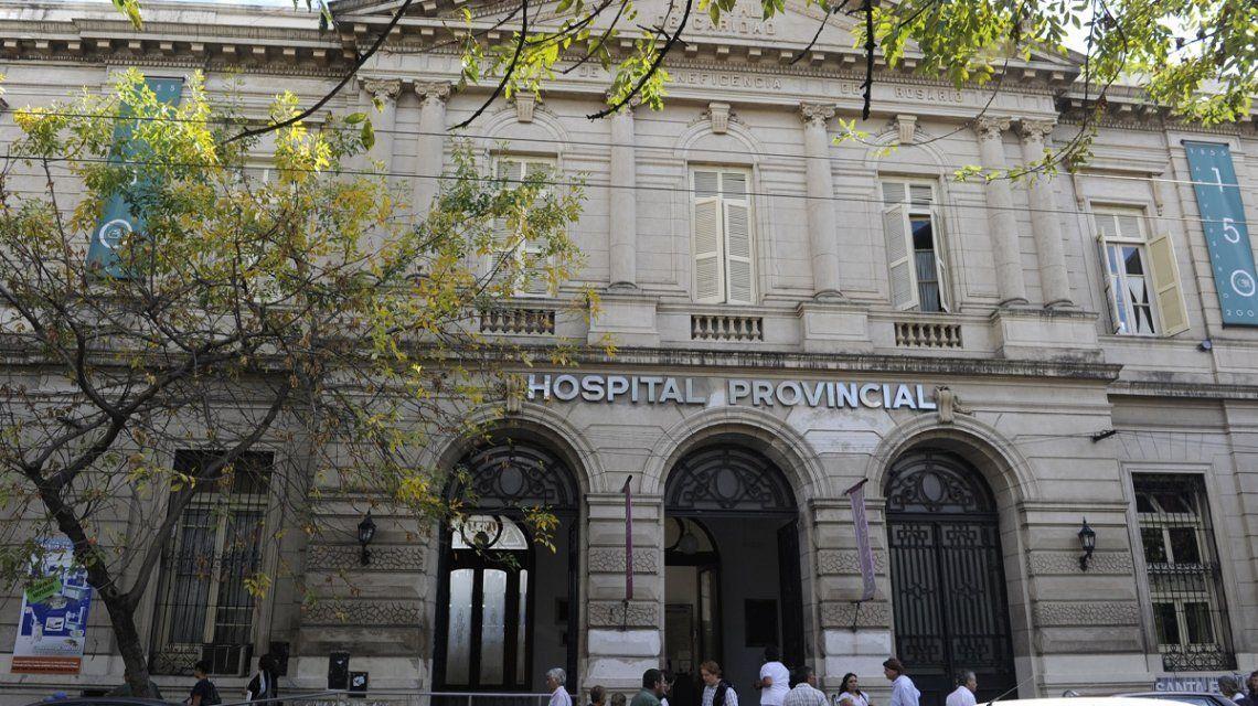 Rosario: la mujer estuvo internada en el Hospital Provincial.