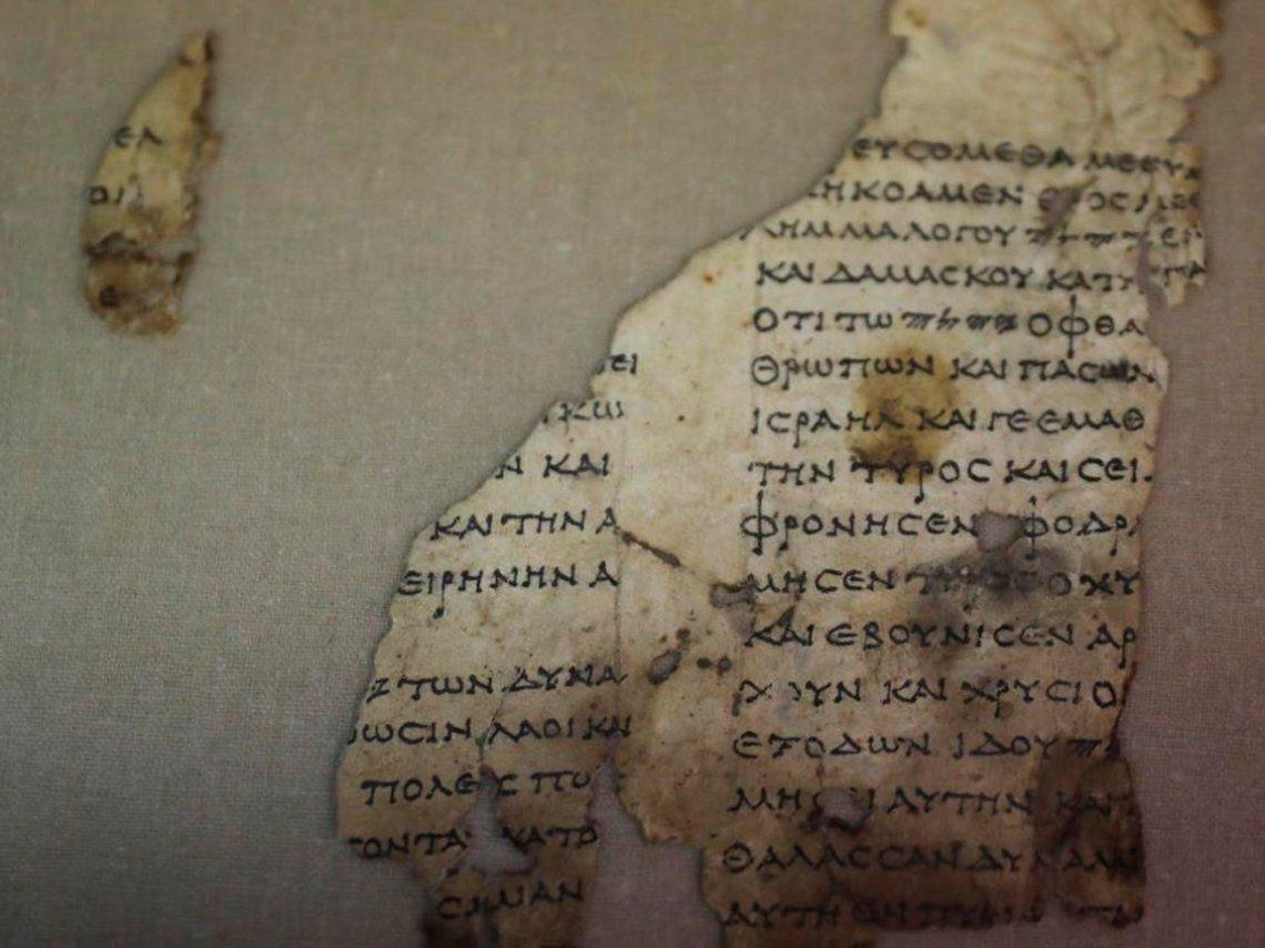 Fragmento de manuscrito bíblico hallado en Israel