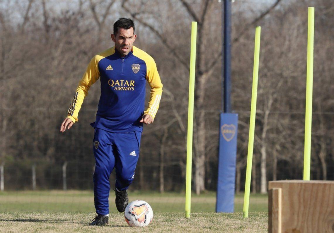 Tevez volvió a entrenarse con Boca en la jornada de hoy