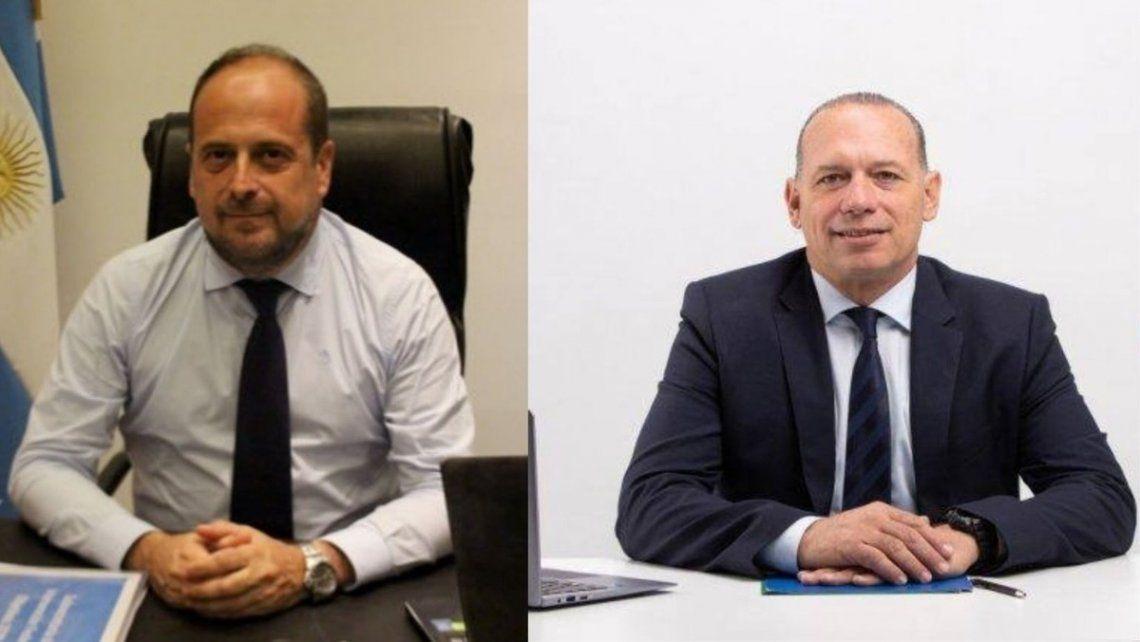 Eduardo Villalba y Sergio Berni.