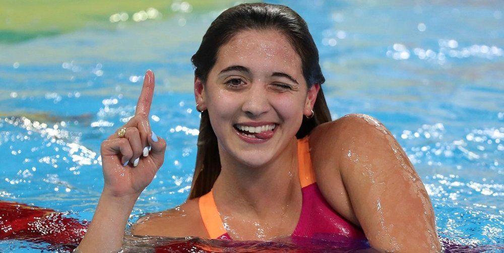 Delfina Pignatiello ganó el oro en el Sudamericano de Natación