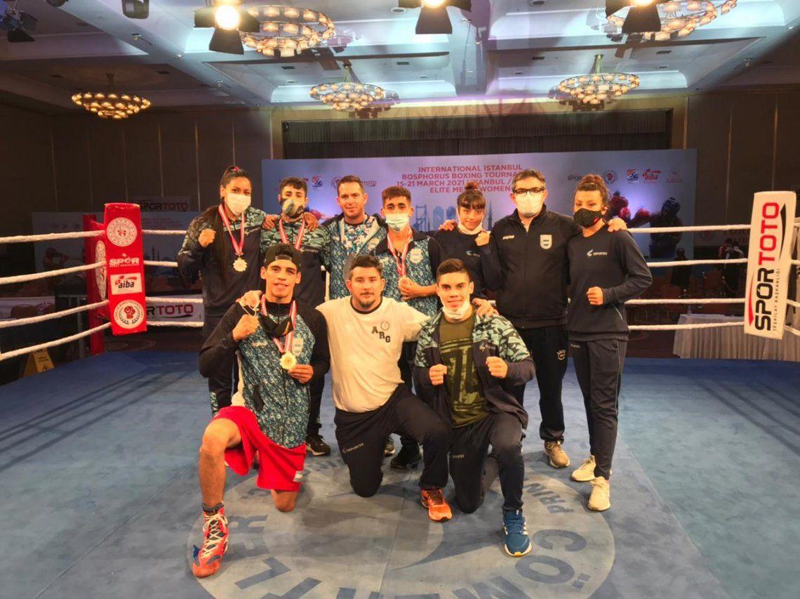 Boxeo: los exitosos púgiles argentinos regresaron de Estambul