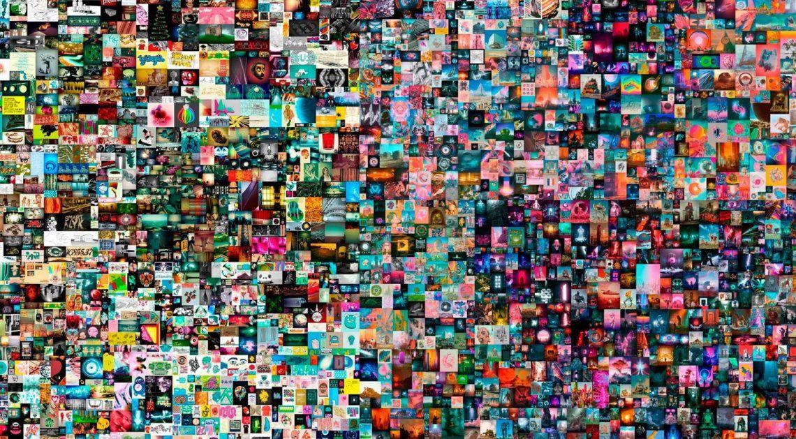 Subastan por 69 millones de dólares una obra de arte digital
