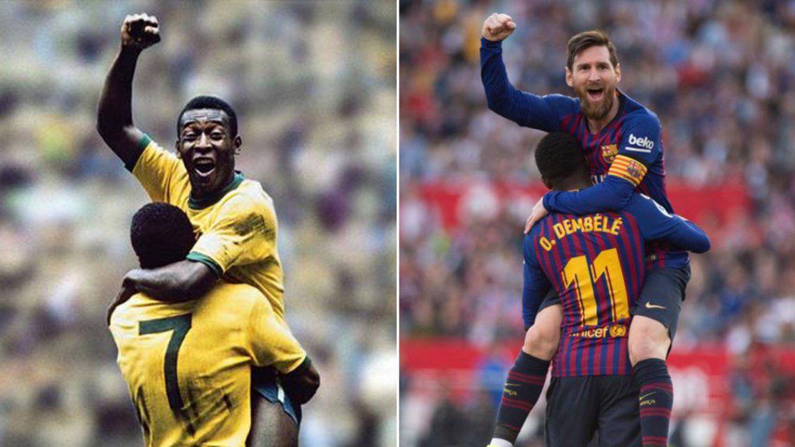 Messi alcanzó otro record de Pelé