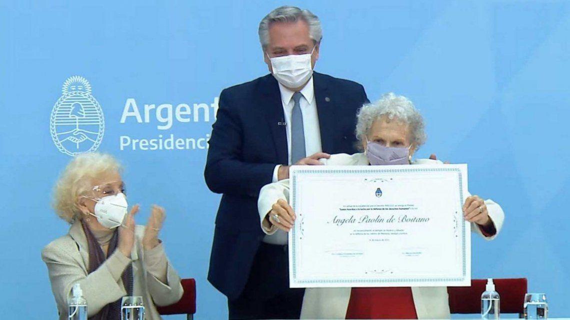 Alberto Fernández encabezó el acto en el Museo del Bicentenario.